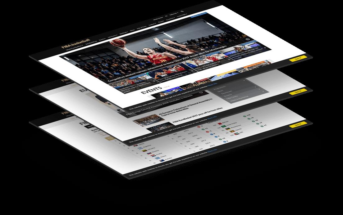FIBA website Mockup Gramercy