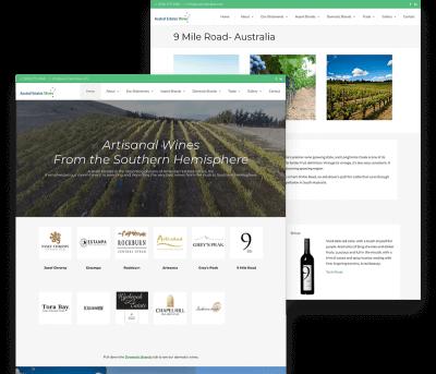 Website for Austral Estates Wines porfolio