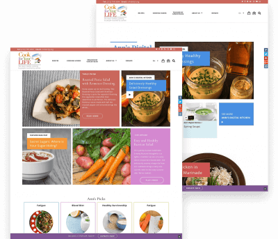 Cook for Your Life Client Website Mockup