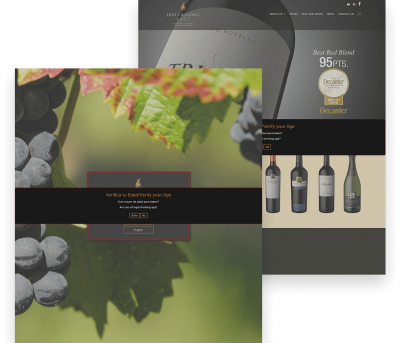 Done Cristobal Winery Client Website Mockup