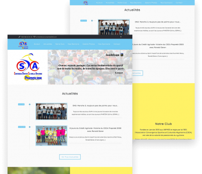 Cycling 2000 Client Website Mockup