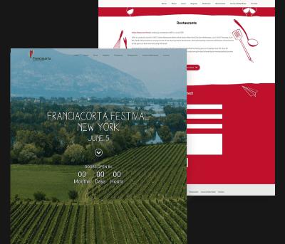 Franciacorta Client Website Mockup