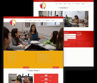 German School NYC Client Website Mockup
