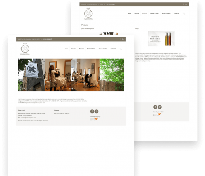 Hair Kuwayama Client Website Mockup