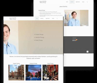 James Ellis Client Website Mockup