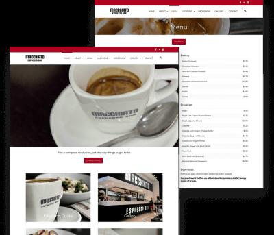 Macchiato Client Website Mockup