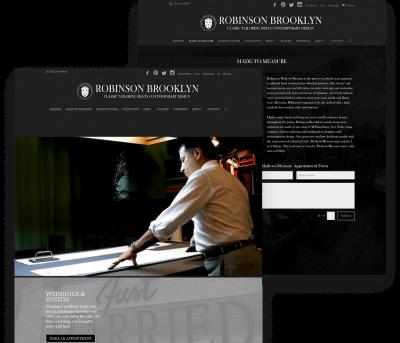 Robinson Brooklyn Client Website Mockup