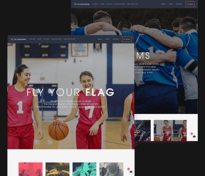 The League Brand Client Website Mockup