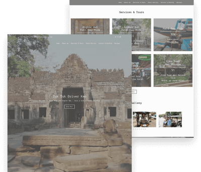 Website for TukTuk Driver Keo porfolio