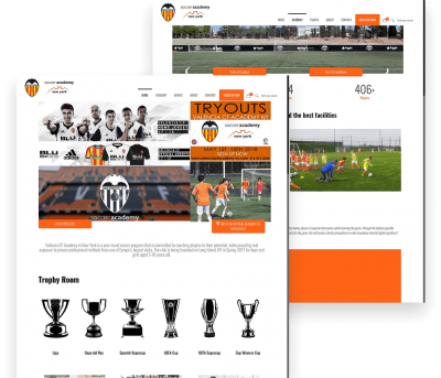 Valencia Client Website Mockup