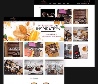 Valrhona Client Website Mockup