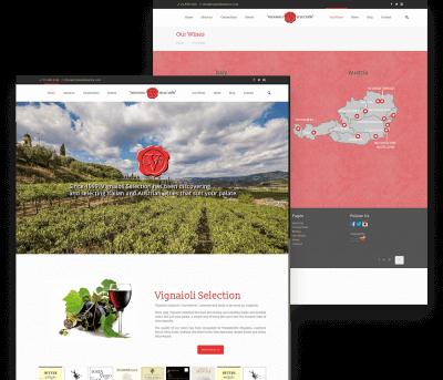 Vignaioli wine Client Website Mockup