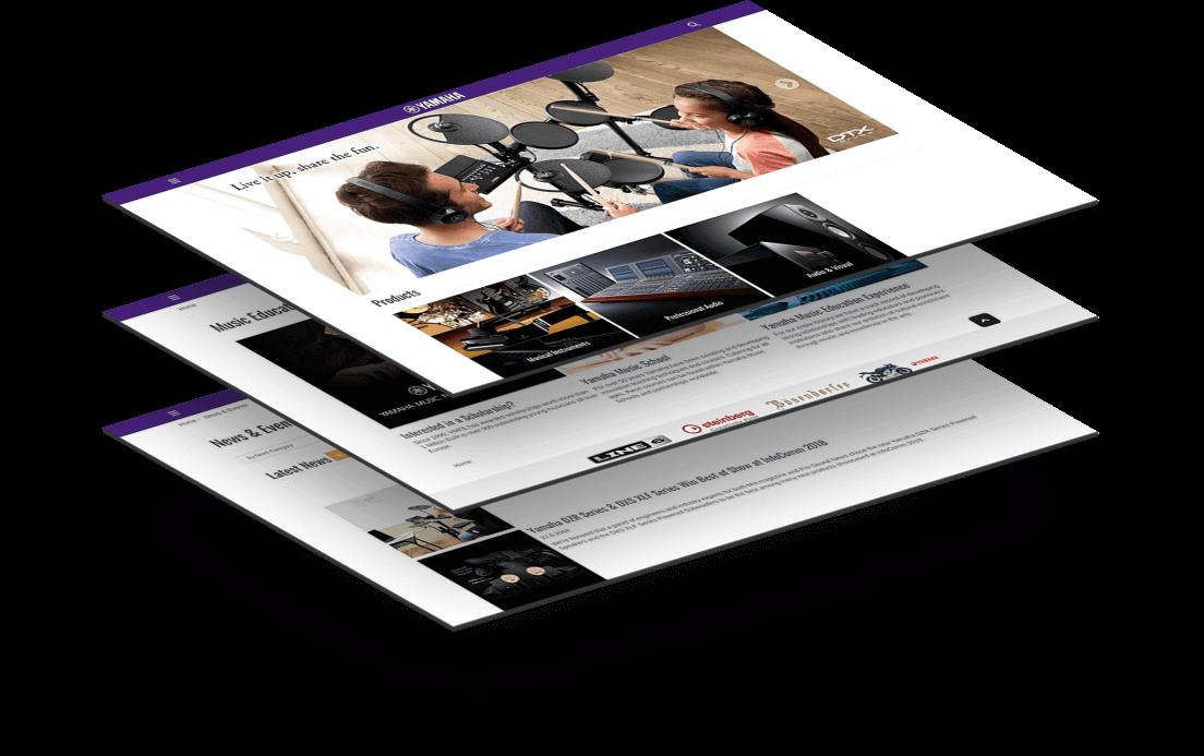 Yamaha Music Europe Website Image